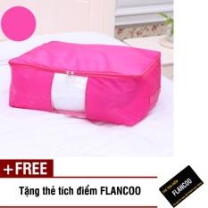 Túi vải đựng đồ loại vừa Flancoo B0852 (Hồng) + Tặng kèm thẻ tích điểm Flancoo