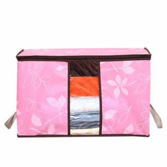 Túi vải hoa văn đa năng size lớn (Hồng)