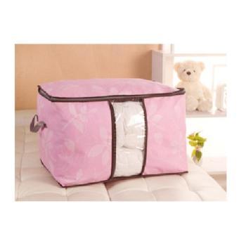 Túi vải hoa văn đa năng size lớn ( hồng )