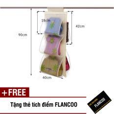 Túi vải treo 5 ngăn Flancoo 2962 (Hoa) + Tặng kèm thẻ tích điểm Flancoo