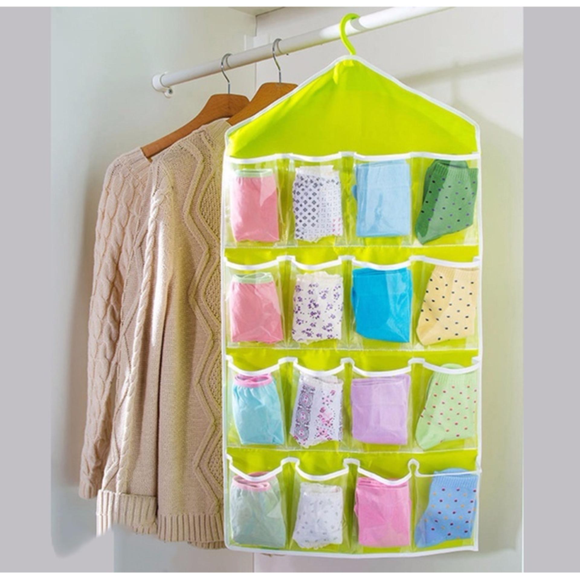 Túi vải treo đồ 16 ngăn đa năng tiện dụng