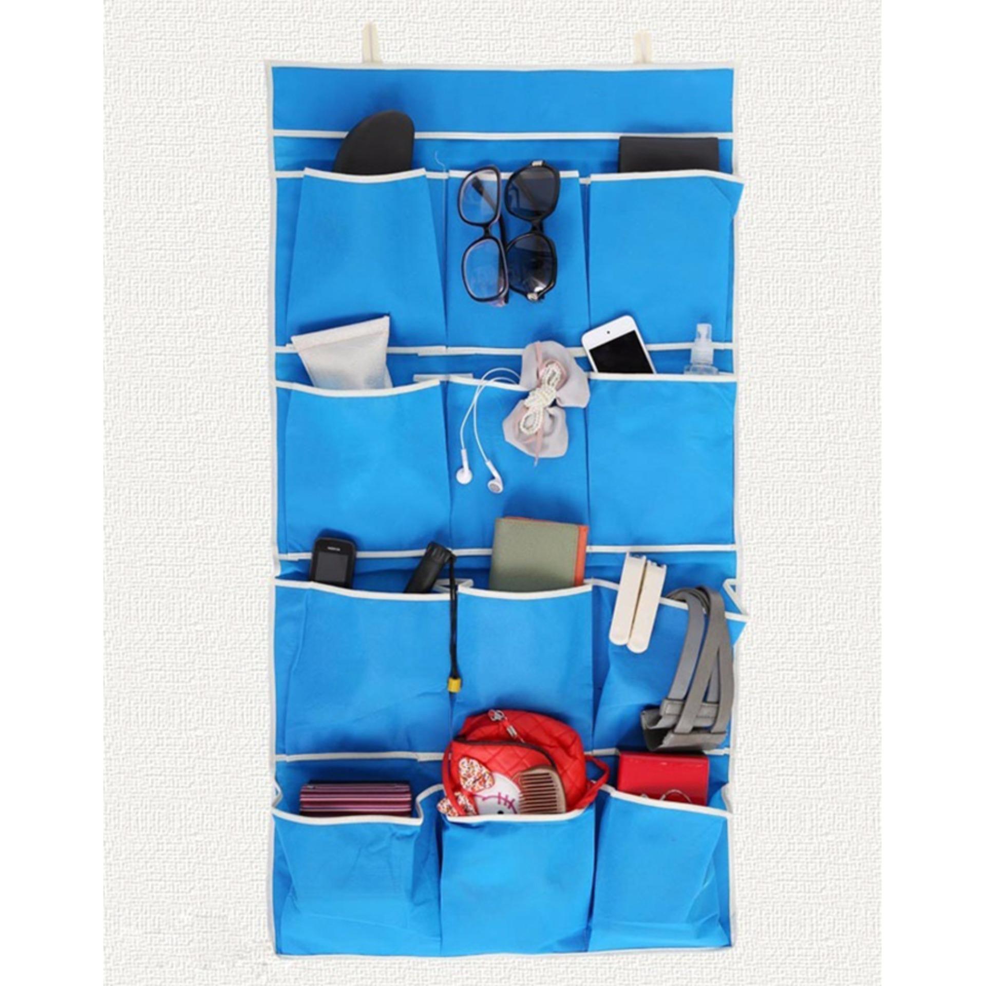 Túi vải treo tường 12 ngăn tiện dụng (xanh) Kmdeal 7772
