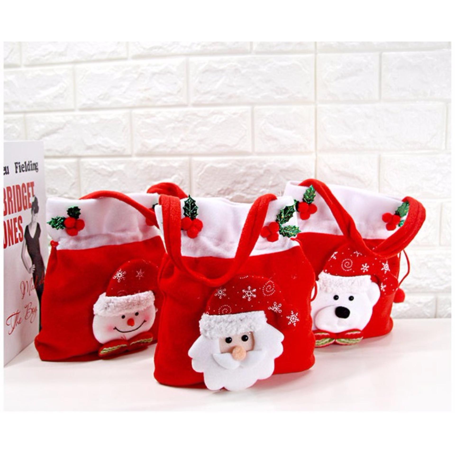 Trang bán Túi xách nhung đỏ Noel cho bé