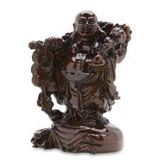 Tượng đá Phật Di Lặc gánh tiền cỡ nhỏ VTX908 (Giả gỗ)