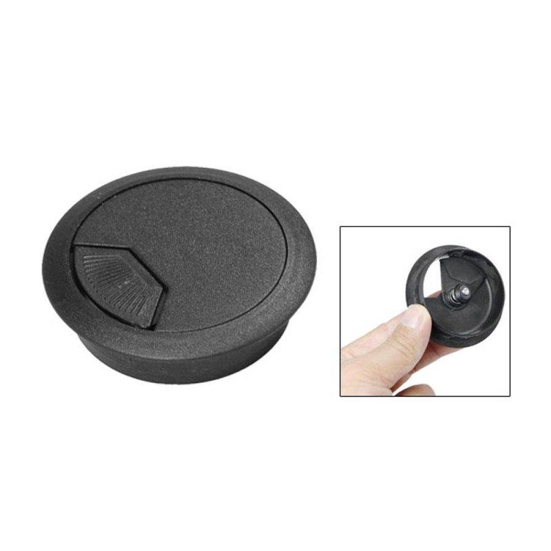 Bảng giá Mua uiuinon PC Desk Flip Top Plastic Grommet Cable Hole Cover (Black,5cm) - intl