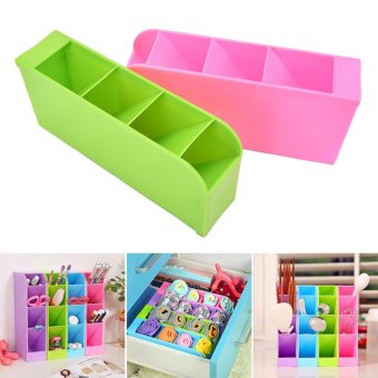 Underwear Storage Partition Plate Spacer Spacer Organize Storage Box Blue - intl