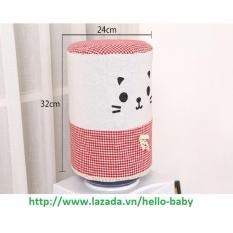 Vải trang trí bình nước (Đỏ) / Hello Baby