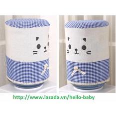 Vải trang trí bình nước (Xanh) / Hello Baby