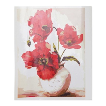 Vase Attachment Digital Oil Painting Wall Home Decor (Colormix ) - intl