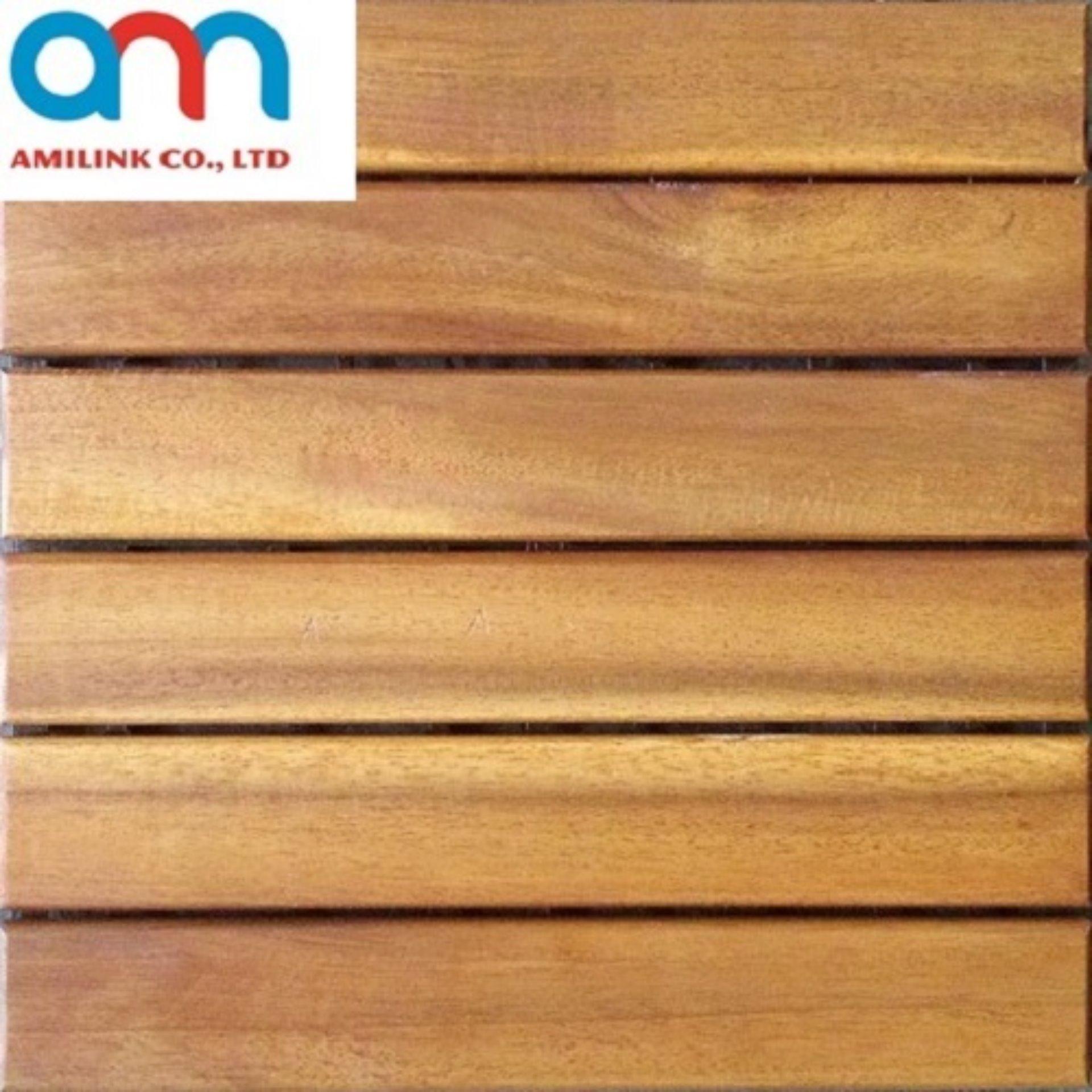 Vỉ gỗ lót sàn – 6 nan màu gỗ tự nhiên