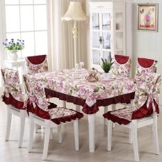 Hoa Vintage Khăn Trải Bàn Ghế Bao Polyester Tiệc Phối Ren Bàn Vải-quốc tế