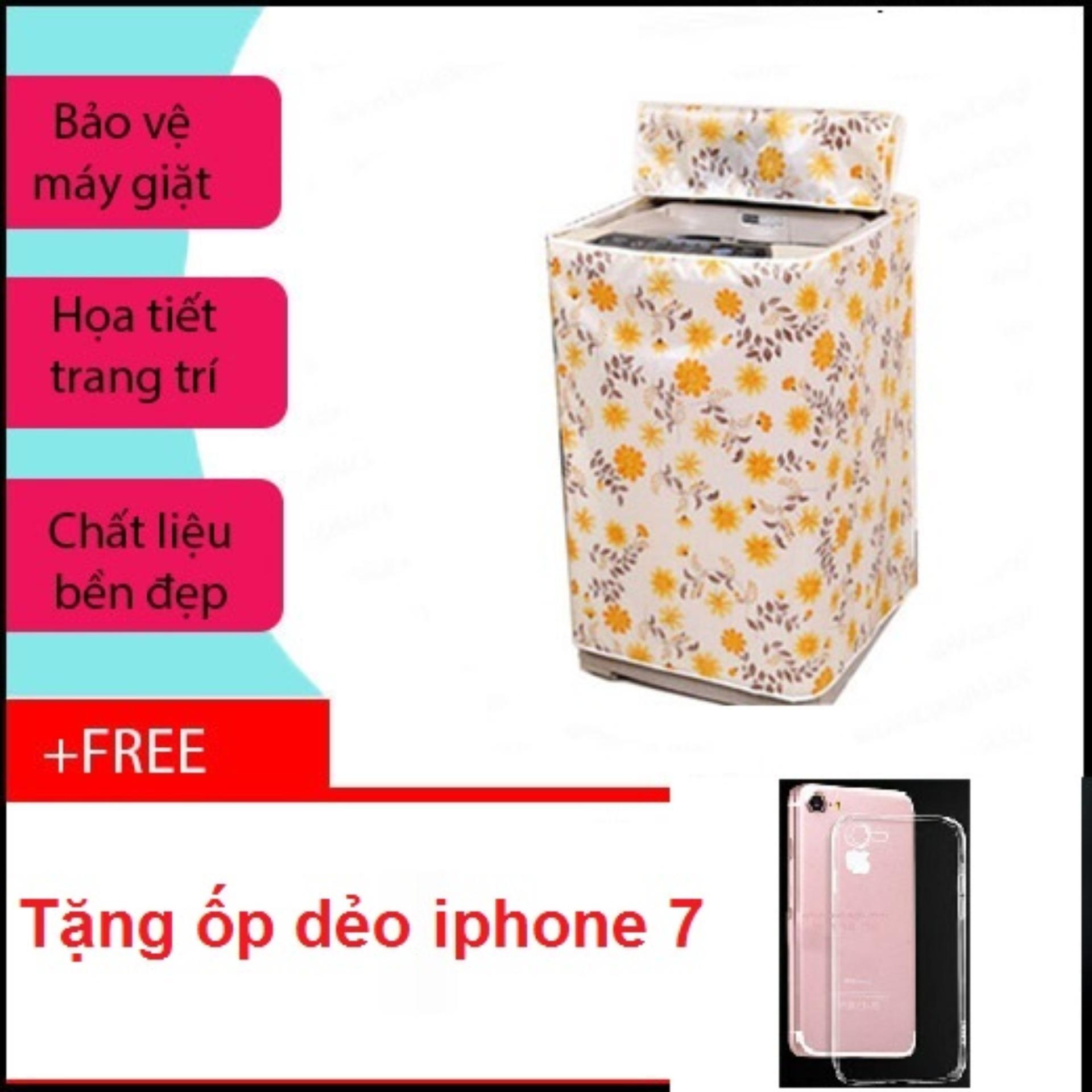 Vỏ bọc máy giặt cửa đứng cỡ lớn + Free ốp lưng iphone 7