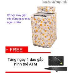 Vỏ bọc máy giặt cửa đứng cỡ nhỏ màu sắc ngẫu nhiên cho máy giặt giao họa tiết ngẫu nhiên + Tặng dao gấp hình thẻ ATM