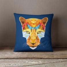 Vỏ gối trang trí, tựa lưng Sofa Tmark 07 Họa tiết cách điệu hình thú (Báo tím)