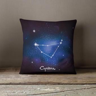 Vỏ gối trang trí, tựa lưng Sofa Tmark 17 Họa tiết cách điệu 12 chòm sao (Capricon)