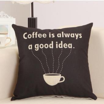 Vỏ gối tựa lưng sofa họa tiết cofee