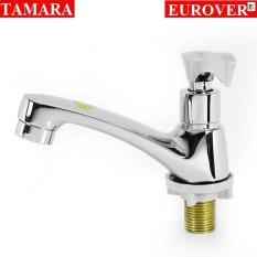 Vòi lavabo lạnh đồng thau nguyên chất, Vòi nước, Vòi chậu rửa mặt lạnh đồng thau mạ crom Eurover-5012 NT0433