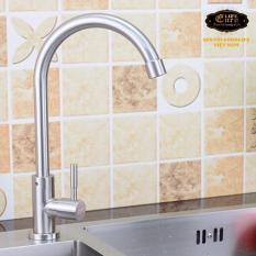 Ở đâu bán Vòi rửa chén lạnh Inox SUS 304 Eurolife EL-T017 (Trắng vàng)