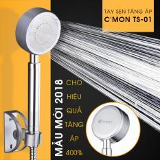 Vòi sen siêu tăng áp 400% C'MON TS-01 – Mẫu mới 2018 (bạc)