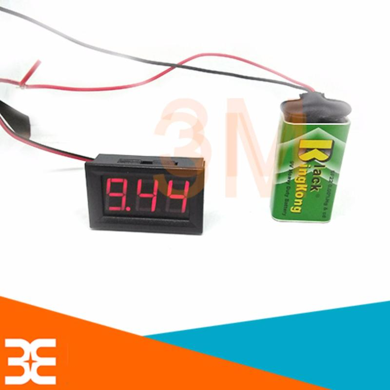 Bảng giá Vôn Kế Điện Tử 3 LED 7 Thanh 0.56 Inch 5-120VDC Đỏ nhỏ gọn