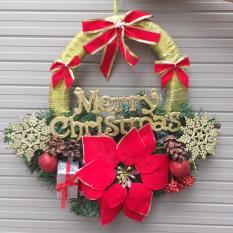 Vòng nguyệt quế trang trí Noel 40x 40cm (nơ to) M&N Toys