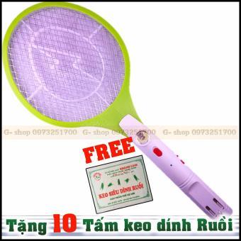 Vợt muỗi cao cấp GS420 (Nhiều màu) + tặng FREE 10 vỉ keo dính ruồi. - 4