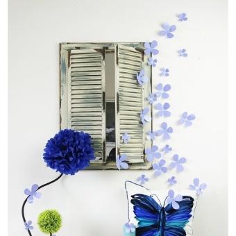 Walplus 12pcs 3D Lavender Blossom Wall Stickers - intl