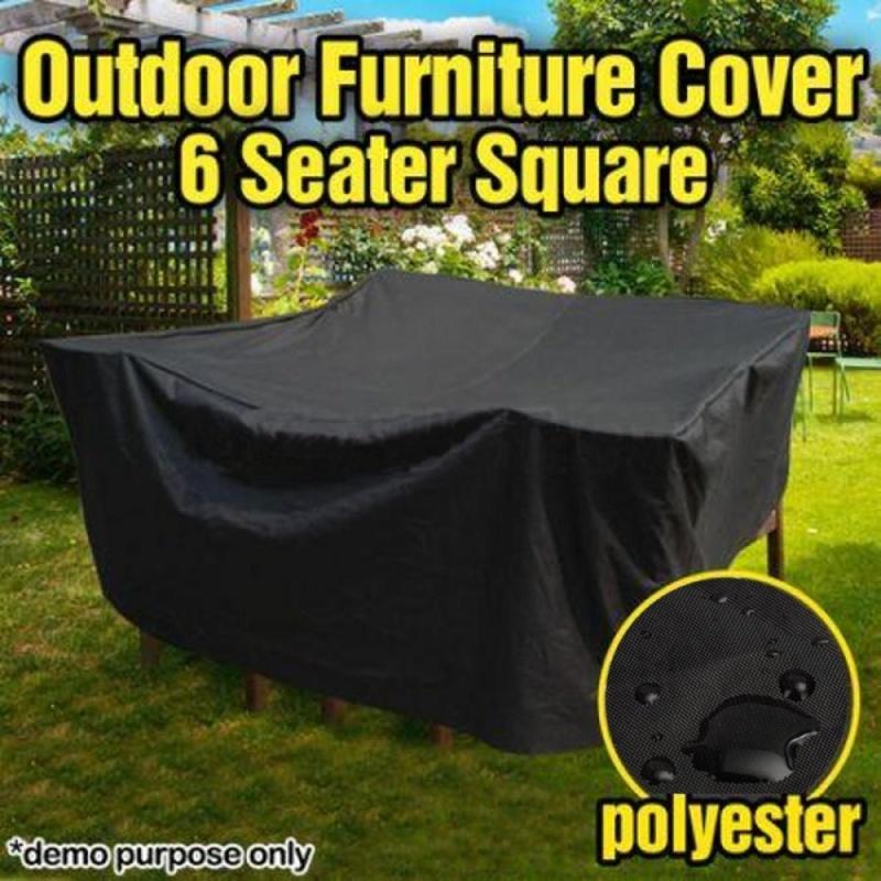 Waterproof Outdoor PVC Coated Polyester Waterproof 6 Seater Furniture Cover - intl