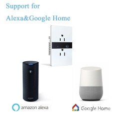 Wifi Switch Plug Socket Work With For Alexa Google Home US Plug - intl