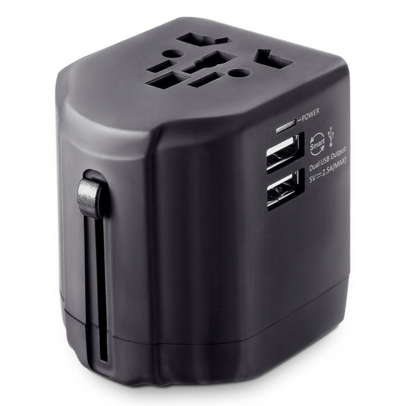 Bảng giá Worldwide Multifunctional International Plug Travel Charger Adapter Dual USB Output (Black) - intl