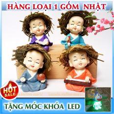 Chỗ bán (XA KHO) Bộ tượng 4 chú tiểu Cầm Kì Thi Họa + Tặng FREE móc khóa LED đáng yêu