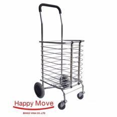 Xe kéo đi chợ nhôm chống gỉ gấp gọn Happy Move 30kg
