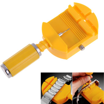 Yellow Watch Repair Tool Band Pin Adjuster Strap Link Remover Free 5 Pins