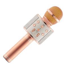 Mic karaoke bluetooth kèm loa hát hay và to WS-858 hỗ trợ Audio out, thẻ nhớ, usb – MS.MICKKL858-BVT