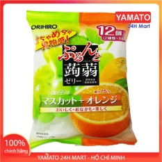 Thạch Hoa Quả Orihio Nhật Bản Gói To 12 chiếc Mix Vị Cam Nho, Thạch Trái Cây, Thạch Trái Cây Nhật Bản