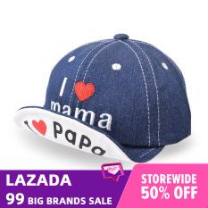 I Love Daddy & Mummy Mũ Em Bé Denim 6-24 Tháng Tuổi Mũ Bóng Chày I Love Mama Papa Cho Bé Trai Bé Gái