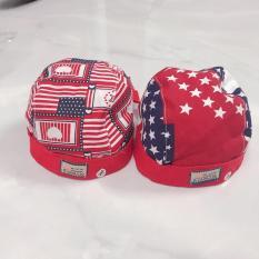 Nón mũ cờ mỹ vải mềm cho bé sơ sinh thắt dây sau rất đẹp – Shop Baby phân phối