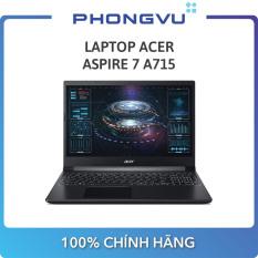 Laptop ACER Aspire 7 A715 (15.6″ Full HD / Ryzen 5 3550H / 8GB / SSD 512GB / GTX 1650Ti / Win 10) – Bảo hành 12 tháng