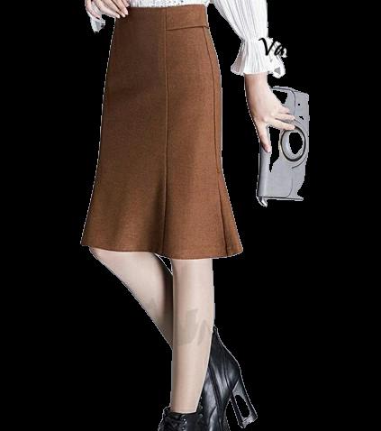 Chân váy đuôi cá thiết kế lưng kiểu phong cách sang trọng MS 007 chất liệu vải nhập có độ co giãn tốt thanh lịch công sở