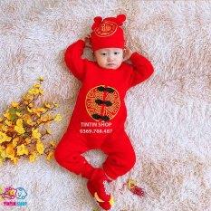 Body diện tết tết tài lộc cho bé, body mặc tết, body đỏ mặc tết, sét body tết cho bé 2021 SLTB07