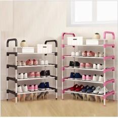 (LOẠI LỚN,DÀY) Kệ giày dép 5 tầng khung inox, giá để giày inox 5 tầng giầy dép kệ để đồ kệ sách ke giay dep đồ nội thất