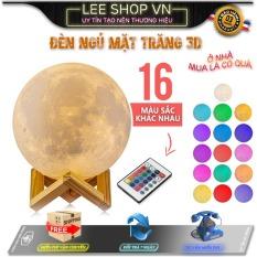 [16 Màu RGB + Remote] Đèn Ngủ mặt trăng 3D Cảm Ứng Đổi 16 Màu RGB, Version 2020 Có Điều Khiển Từ Xa, Tặng Kèm Đèn Led Mini, Mang Giấc Ngủ Bình Yên Cho Bạn Và Người Thân – Đèn Ngủ 3D, Đèn Ngủ – Lee shop VN