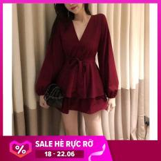 Đầm xòe cột eo thời trang có size từ 40-65kg (Kèm ảnh khách tự chụp)
