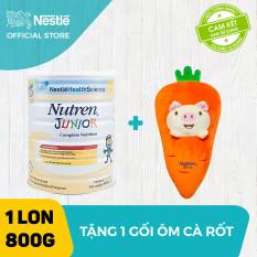 Sản phẩm dinh dưỡng y học Nutren Junior cho trẻ từ 1-10 tuổi 800g + Tặng 1 gối ôm cà rốt