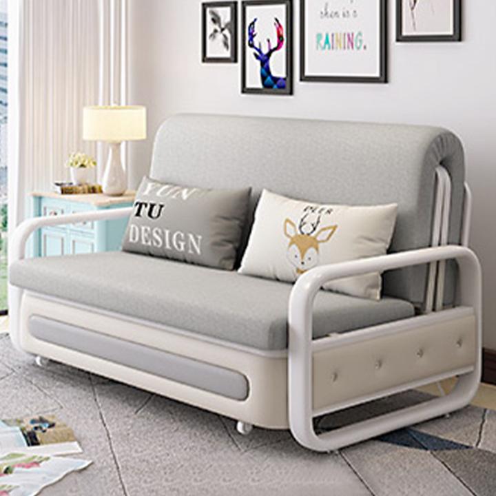 Sofa giường, sofa phòng khách, Giường sofa gấp gọn, ghế sofa hai chế độ có thể dải rộng làm giường và gấp gọn làm ghế chất liệu bền bỉ thiết kế hiện đại sang trọng M002-2 size 1m2x1m9