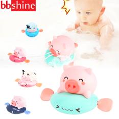 Đồ chơi thả bồn tắm, đồ chơi nhà tắm phun nước hình heo và bò vặn cót đáng yêu đủ màu sắc cho bé BBShine – DC057