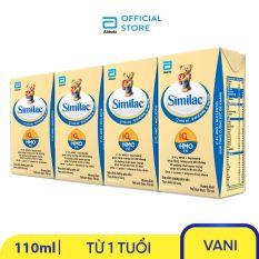 Lốc 4 hộp sữa nước Similac 110ml nuôi dưỡng hệ miễn dịch tăng cường sức đề kháng phát triển trí não – Giới hạn 5 sản phẩm/khách hàng