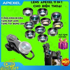 Bộ lens ống kính Apexel 11 in1 dành cho điện thoại, chụp ảnh cực đẹp, nhiều hiệu ứng – Phân phối Chính hãng