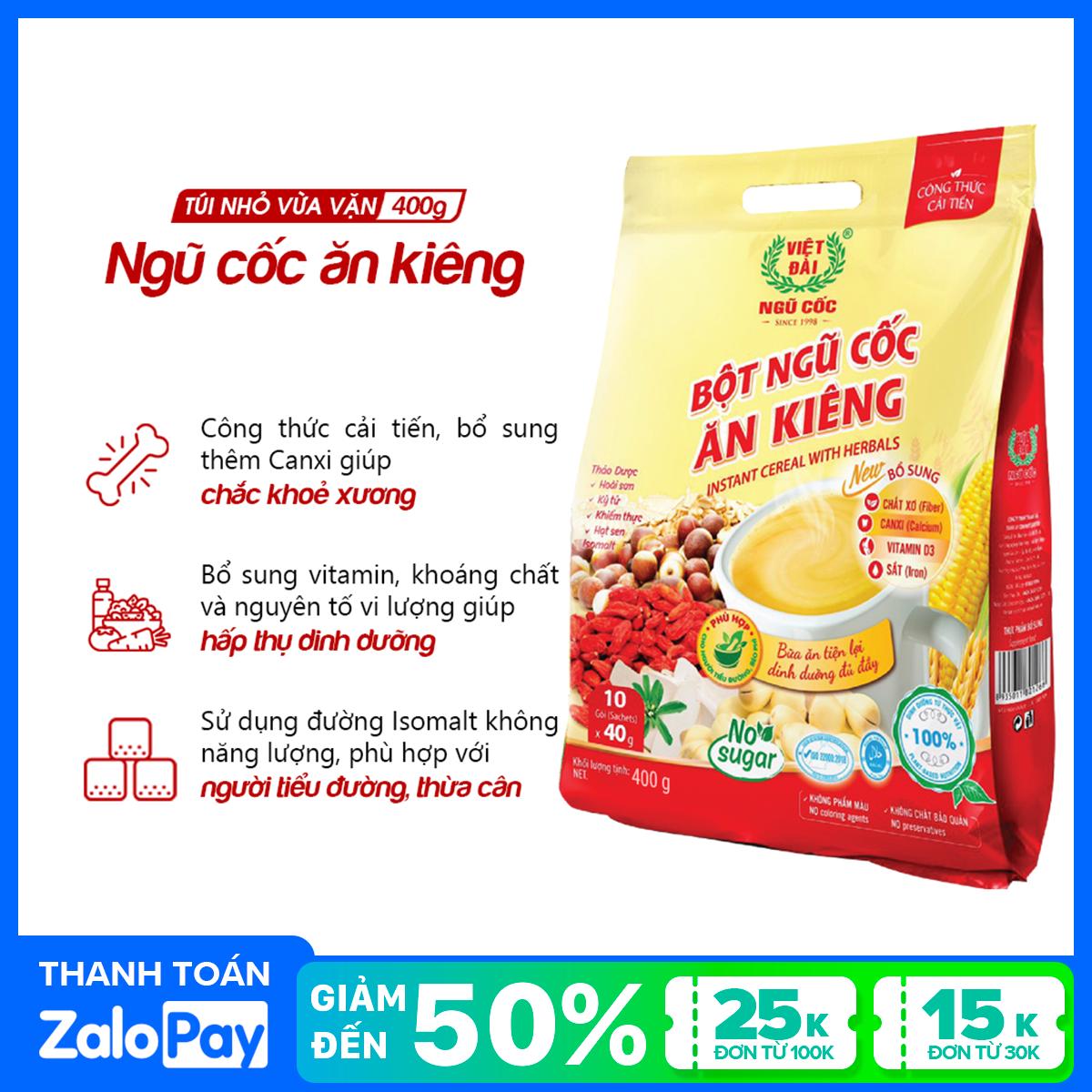 Bột ngũ cốc ăn kiêng Việt Đài túi 400g