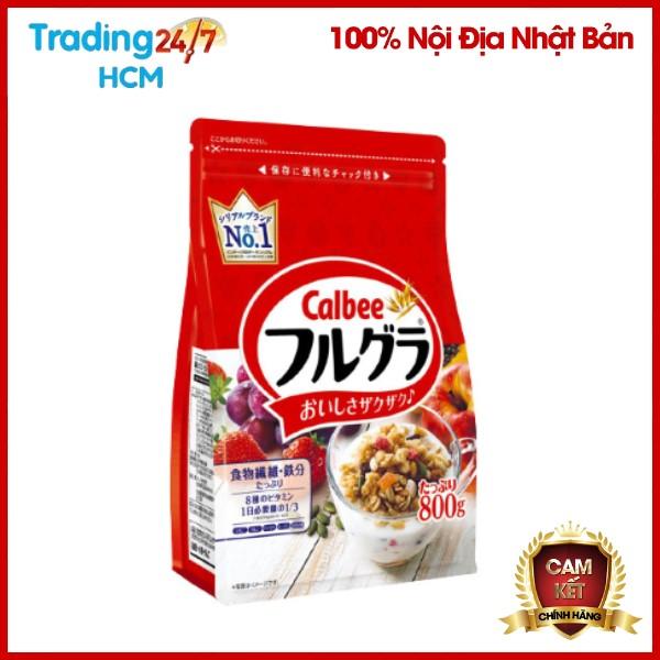 [ SALE SỐC CUỐI NĂM ] Ngũ cốc trái cây Calbee màu đỏ gói 800g Nhật Bản